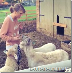 Taylor Swift Teaching Farm Animals A Thing Or Two!