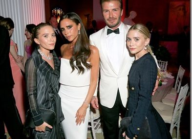 The Olsen Twins Oreo Sandwich With Victoria And David Beckham!