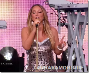 Mariah Carey Sings New Single Infinity On Jimmy Kimmel Live!