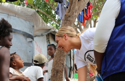 Beyonce is in Haiti to see the results of Humanitarian Efforts