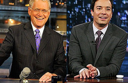Jimmy Fallon bids David Letterman farewell on Late Show