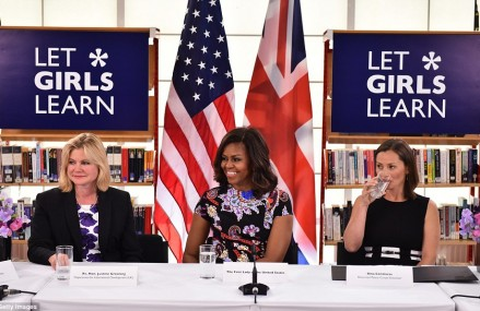 Michelle Obama visits the UK for Let Girls Learn