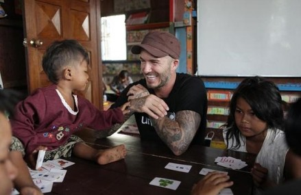 David Beckham Returns To Cambodia For His 10th UNICEF Charity Event, Helping Children With Mental And Physical Problems!