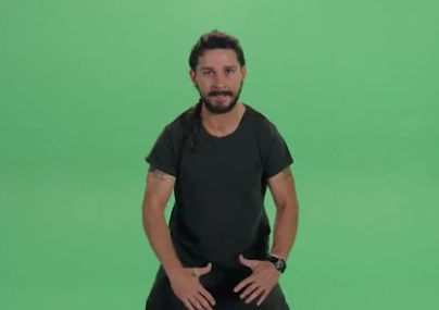 Shia LaBeouf Working On Inspirational Video? Sneak Peek!