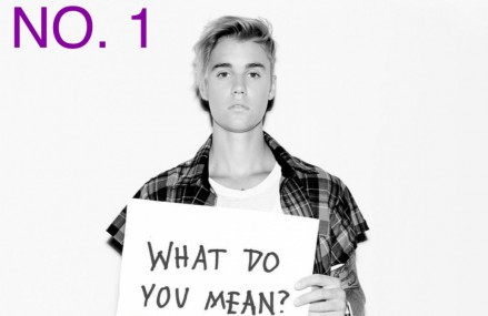 """Justin Bieber Lands No. 1 For """"Billboard Hot 100! 'What Do You Mean?'"""