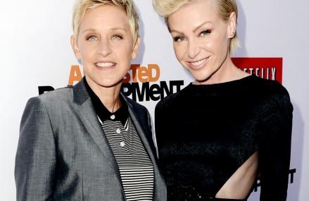 Ellen's Sneaky Pics of Portia de Rossi—Hilarious