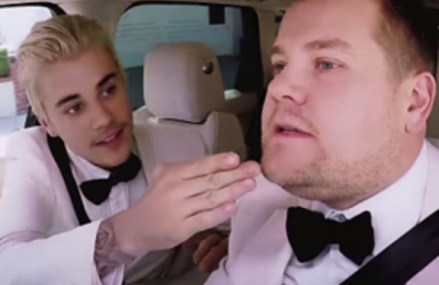 Justin Bieber and James Corden jam out after the 2016 Grammys!