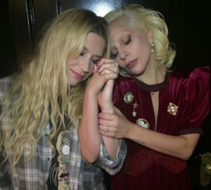 Kesha Rose and Lady Gaga