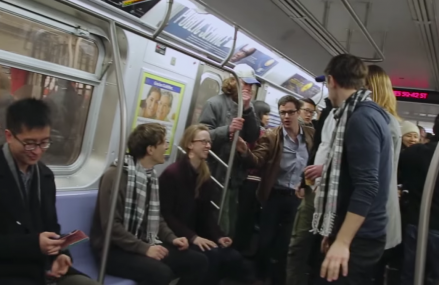 Hilarious time travel prank with twins on a train!