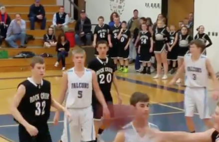 Middle School Basketball Team loses title game after this crazy shot!