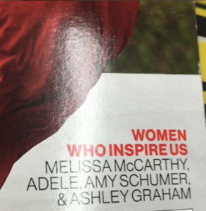 Amy Schumer on glamour magazine