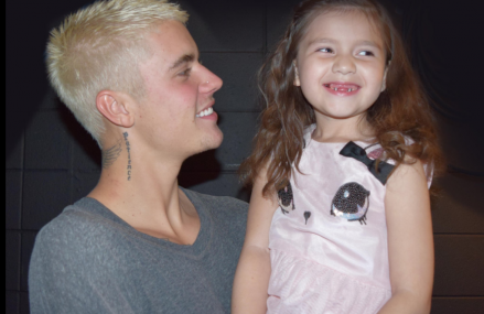 Justin Bieber Meet and Greet with Emily who kicked cancers butt!