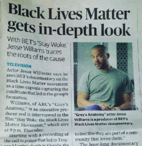Jesse Williams, Black Lives Matter