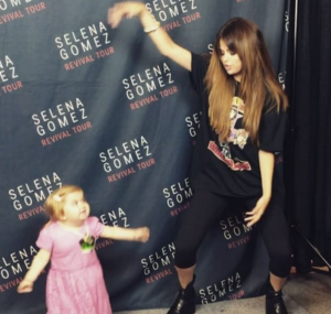 Selena Gomez dances with Audrey!