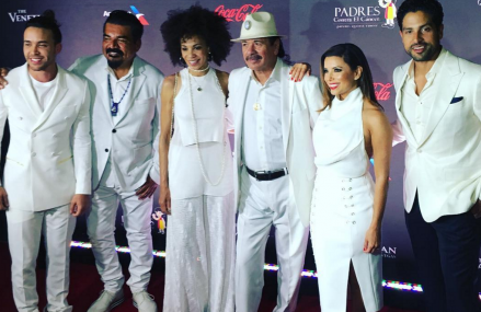 Eva Longoria, George Lopez, Carlos Santana at Padres' El Sueno de Esparanza!