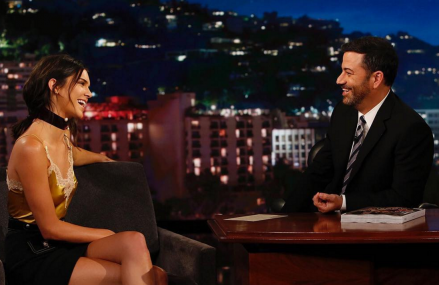 Jimmy Kimmel and Kendall Jenner on Being Neighbors & him rescuing her!