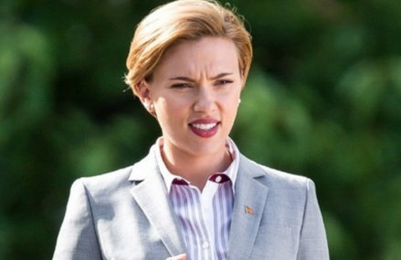 "Scarlett Johansson is filming ""Rock That Body."" Check it out!"