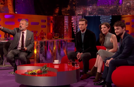 Justin Timberlake dances with a fan on The Graham Norton Show & more!