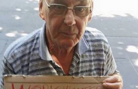 One Homeless Man used his sign as a resume! Check it out.