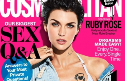 Ruby Rose takes the cover of Cosmopolitan! Check it out!