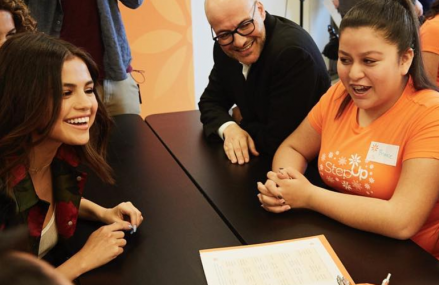 Selena Gomez surprises high school with Step Up Foundation