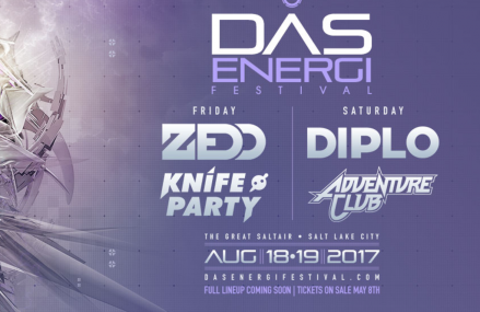 DAS Energi 2017: Zedd, Knife Party, Diplo and Adventure Club announced!