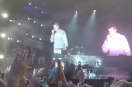Justin Bieber handles a rude fan with respect after a Shoe flies at his face!