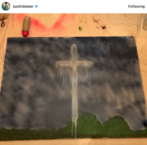 Justin Bieber is selling art to help raise money for CA wildfires!